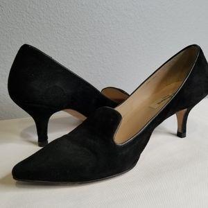LK Bennett Black Suede Leather Pumps Mid Heels 37